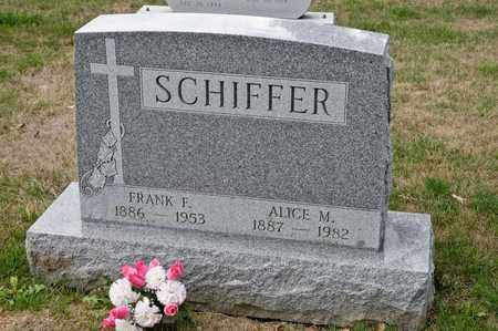 SCHIFFER, ALICE M - Richland County, Ohio | ALICE M SCHIFFER - Ohio Gravestone Photos