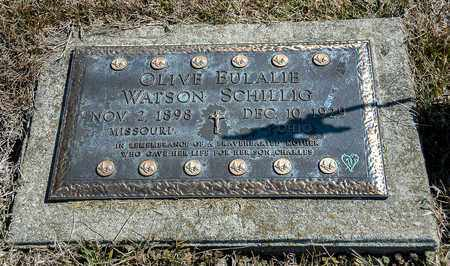 WATSON SCHILLIG, OLIVE EULALIE - Richland County, Ohio | OLIVE EULALIE WATSON SCHILLIG - Ohio Gravestone Photos