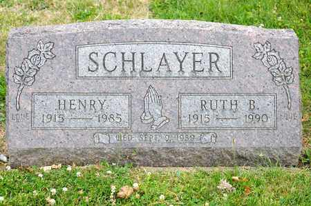 SCHLAYER, RUTH B - Richland County, Ohio | RUTH B SCHLAYER - Ohio Gravestone Photos