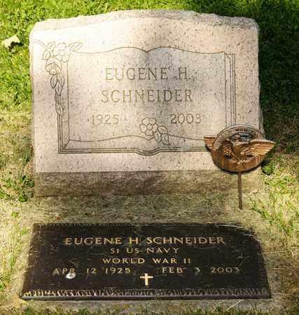SCHNEIDER, EUGENE H - Richland County, Ohio | EUGENE H SCHNEIDER - Ohio Gravestone Photos