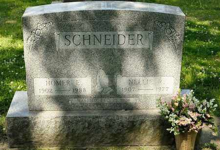 SCHNEIDER, HOMER E - Richland County, Ohio | HOMER E SCHNEIDER - Ohio Gravestone Photos