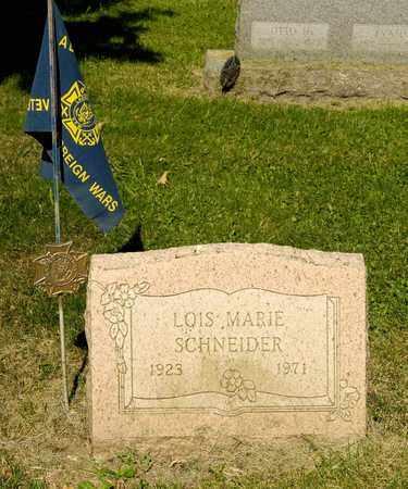 SCHNEIDER, LOIS MARIE - Richland County, Ohio | LOIS MARIE SCHNEIDER - Ohio Gravestone Photos