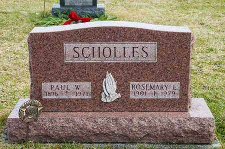 SCHOLLES, ROSEMARY E - Richland County, Ohio | ROSEMARY E SCHOLLES - Ohio Gravestone Photos