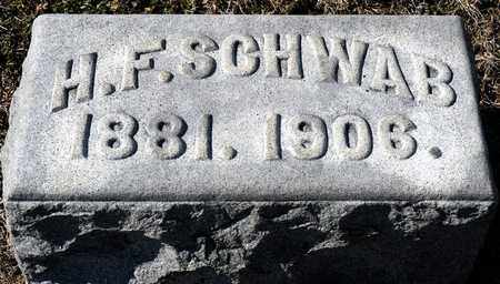 SCHWAB, H F - Richland County, Ohio   H F SCHWAB - Ohio Gravestone Photos