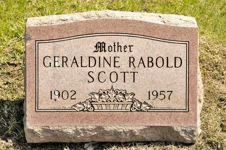 RABOLD SCOTT, GERALDINE - Richland County, Ohio | GERALDINE RABOLD SCOTT - Ohio Gravestone Photos