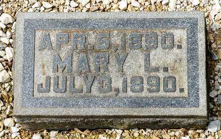 SCOTT, MARY L - Richland County, Ohio | MARY L SCOTT - Ohio Gravestone Photos
