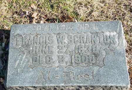 SCRANTON, FRANCIS W - Richland County, Ohio | FRANCIS W SCRANTON - Ohio Gravestone Photos