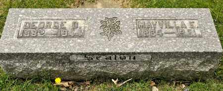 SEATON, MAYVILLA E - Richland County, Ohio | MAYVILLA E SEATON - Ohio Gravestone Photos