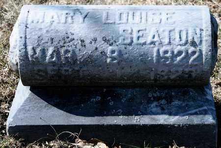SEATON, MARY LOUISE - Richland County, Ohio   MARY LOUISE SEATON - Ohio Gravestone Photos