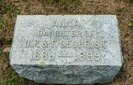 SECHRIST, ANNA - Richland County, Ohio | ANNA SECHRIST - Ohio Gravestone Photos