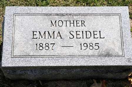 SEIDEL, EMMA - Richland County, Ohio | EMMA SEIDEL - Ohio Gravestone Photos