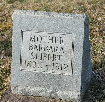 SEIFERT, BARBARA - Richland County, Ohio | BARBARA SEIFERT - Ohio Gravestone Photos