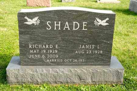SHADE, RICHARD E - Richland County, Ohio | RICHARD E SHADE - Ohio Gravestone Photos