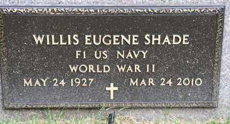 SHADE, WILLIS EUGENE - Richland County, Ohio | WILLIS EUGENE SHADE - Ohio Gravestone Photos