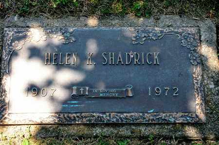SHADRICK, HELEN K - Richland County, Ohio | HELEN K SHADRICK - Ohio Gravestone Photos