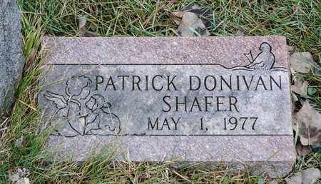 SHAFER, PATRICK DONIVAN - Richland County, Ohio | PATRICK DONIVAN SHAFER - Ohio Gravestone Photos