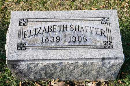 SHAFFER, ELIZABETH - Richland County, Ohio | ELIZABETH SHAFFER - Ohio Gravestone Photos