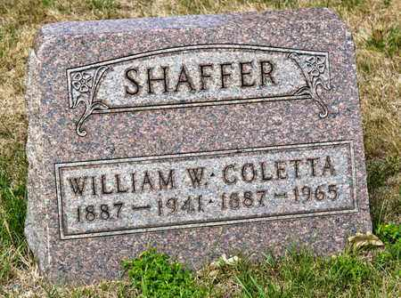SHAFFER, WILLIAM W - Richland County, Ohio | WILLIAM W SHAFFER - Ohio Gravestone Photos