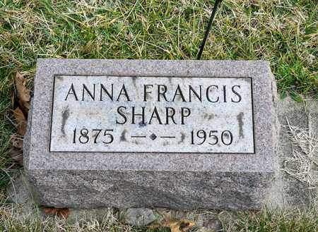 SHARP, ANNA FRANCIS - Richland County, Ohio | ANNA FRANCIS SHARP - Ohio Gravestone Photos