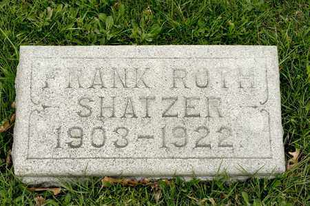 SHATZER, FRANK ROTH - Richland County, Ohio | FRANK ROTH SHATZER - Ohio Gravestone Photos