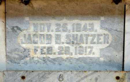 SHATZER, JACOB B - Richland County, Ohio | JACOB B SHATZER - Ohio Gravestone Photos