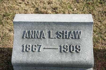 SHAW, ANNA L - Richland County, Ohio | ANNA L SHAW - Ohio Gravestone Photos
