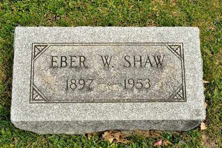 SHAW, EBER W - Richland County, Ohio | EBER W SHAW - Ohio Gravestone Photos