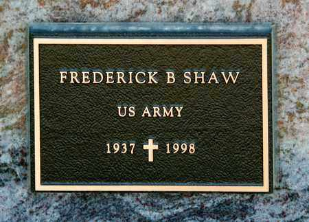 SHAW, FREDERICK B - Richland County, Ohio | FREDERICK B SHAW - Ohio Gravestone Photos
