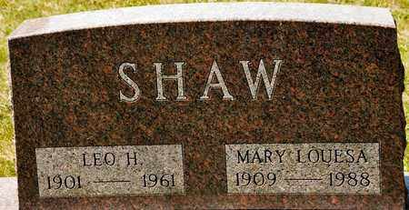 SHAW, MARY LOUESA - Richland County, Ohio | MARY LOUESA SHAW - Ohio Gravestone Photos