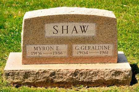 SHAW, MYRON E - Richland County, Ohio | MYRON E SHAW - Ohio Gravestone Photos
