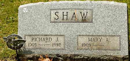 SHAW, RICHARD J - Richland County, Ohio | RICHARD J SHAW - Ohio Gravestone Photos
