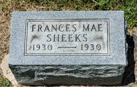 SHEEKS, FRANCES MAE - Richland County, Ohio | FRANCES MAE SHEEKS - Ohio Gravestone Photos