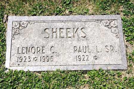 SHEEKS, LENORE C - Richland County, Ohio   LENORE C SHEEKS - Ohio Gravestone Photos