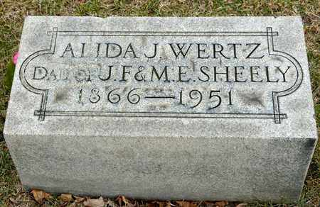 WERTZ SHEELY, ALIDA J - Richland County, Ohio | ALIDA J WERTZ SHEELY - Ohio Gravestone Photos