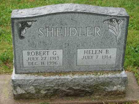 SHEIDLER, ROBERT G. - Richland County, Ohio | ROBERT G. SHEIDLER - Ohio Gravestone Photos