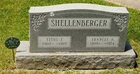 SHELLENBERGER, FRANCES A - Richland County, Ohio | FRANCES A SHELLENBERGER - Ohio Gravestone Photos