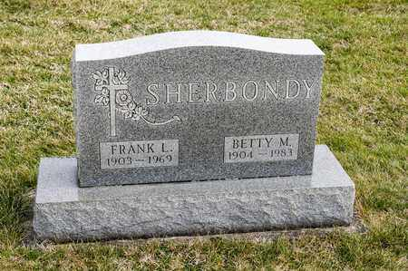 SHERBONDY, FRANK L - Richland County, Ohio | FRANK L SHERBONDY - Ohio Gravestone Photos