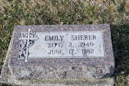 SHERER, EMILY - Richland County, Ohio | EMILY SHERER - Ohio Gravestone Photos