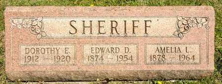 SHERIFF, EDWARD D - Richland County, Ohio | EDWARD D SHERIFF - Ohio Gravestone Photos