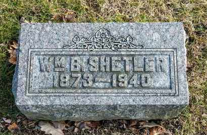 SHETLER, WILLIAM B - Richland County, Ohio | WILLIAM B SHETLER - Ohio Gravestone Photos
