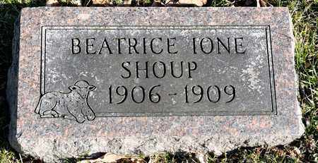 SHOUP, BEATRICE IONE - Richland County, Ohio | BEATRICE IONE SHOUP - Ohio Gravestone Photos