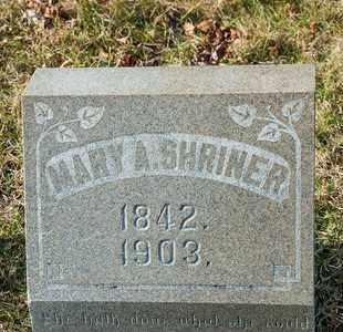 SHRINER, MARY A - Richland County, Ohio | MARY A SHRINER - Ohio Gravestone Photos
