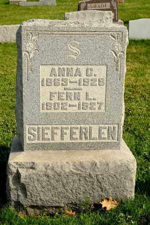SIEFFERLEN, ANNA C - Richland County, Ohio | ANNA C SIEFFERLEN - Ohio Gravestone Photos