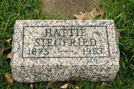 SIEGFRIED, HATTIE - Richland County, Ohio | HATTIE SIEGFRIED - Ohio Gravestone Photos