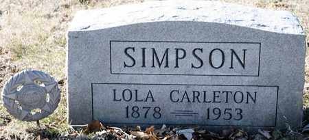 CARLETON SIMPSON, LOLA - Richland County, Ohio | LOLA CARLETON SIMPSON - Ohio Gravestone Photos