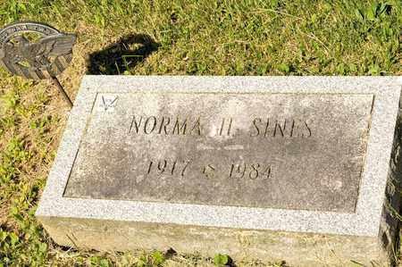 SINES, NORMA H - Richland County, Ohio | NORMA H SINES - Ohio Gravestone Photos