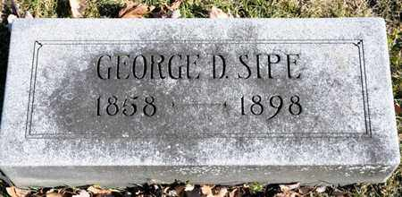 SIPE, GEORGE D - Richland County, Ohio | GEORGE D SIPE - Ohio Gravestone Photos