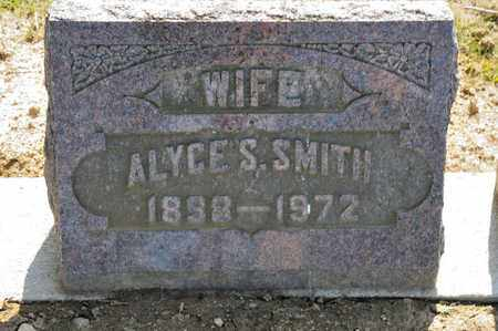 SMITH, ALYCE S - Richland County, Ohio | ALYCE S SMITH - Ohio Gravestone Photos