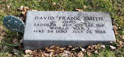 SMITH, DAVID FRANK - Richland County, Ohio | DAVID FRANK SMITH - Ohio Gravestone Photos