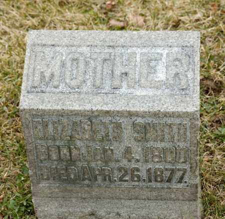 SMITH, ELIZABETH - Richland County, Ohio | ELIZABETH SMITH - Ohio Gravestone Photos